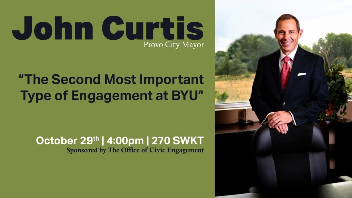 Civic Engagement and Provo Mayor John Curtis