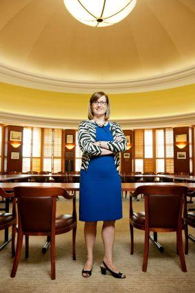 Brigitte at big table